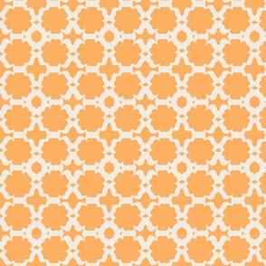 Morocco Garden- tangerine  cream