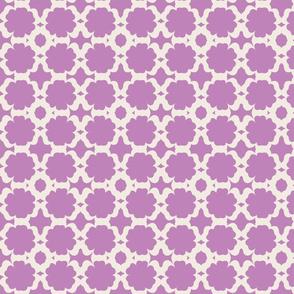Morocco Garden- lilac cream