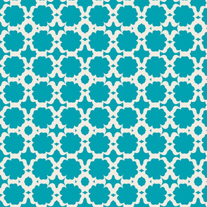 Morocco Garden-teal  cream