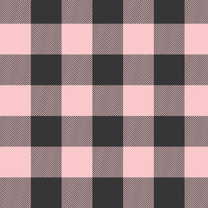 Big Buffalo Plaid Check - pink and black