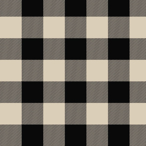 Big Buffalo Plaid - Check - black and tan