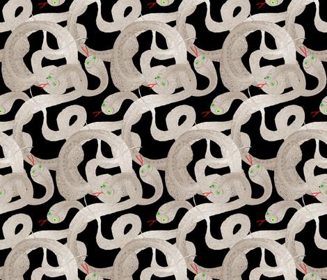 Dark_night_snakes fabric by ruthjohanna on Spoonflower - custom fabric