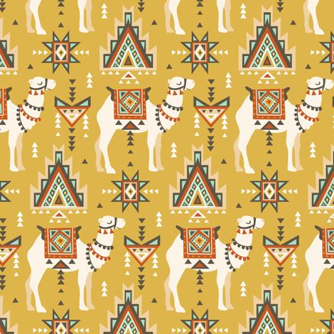Сamels and geometry fabric by alenkakarabanova on Spoonflower - custom fabric