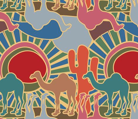 Colorfull_Desert fabric by artkiwi on Spoonflower - custom fabric