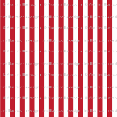 pinstripes vertical red