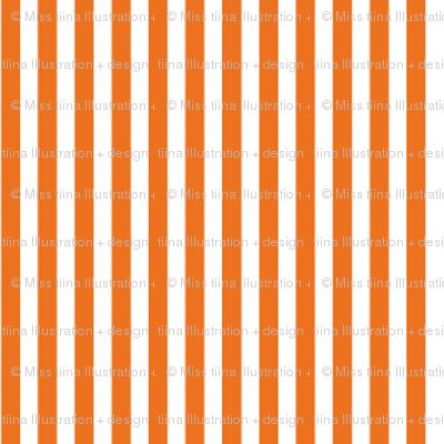pinstripes vertical orange