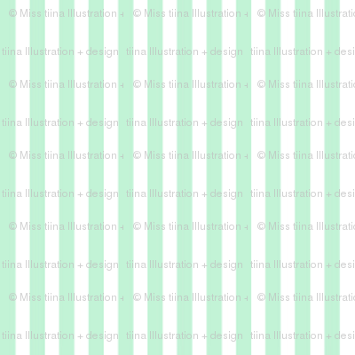 pinstripes vertical ice mint green