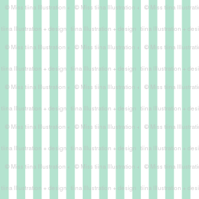 pinstripes vertical mint green