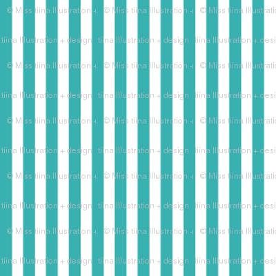 pinstripes vertical teal