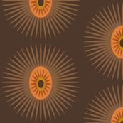 brown spiky star