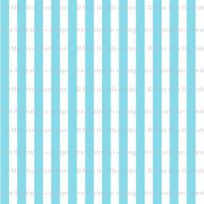 pinstripes vertical sky blue