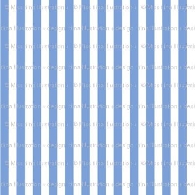 pinstripes vertical cornflower blue