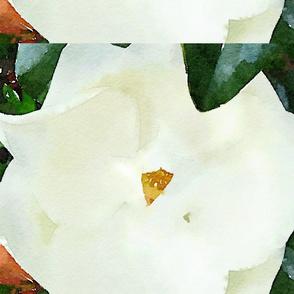 Watercolor Magnolia