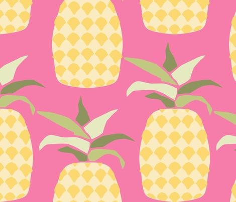 ananas_L fabric by nadja_petremand on Spoonflower - custom fabric