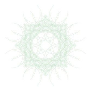 geometric green and white mandala