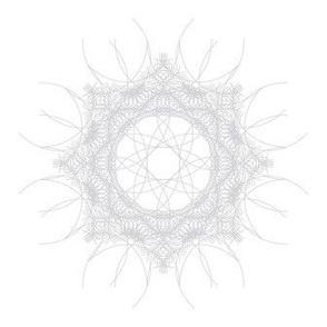 geometric white mandala