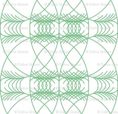 geometric green on white