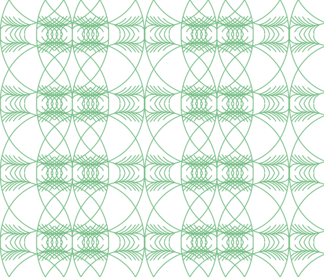 geometric green on white  fabric by dafnag on Spoonflower - custom fabric