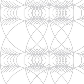 geometric grey on white