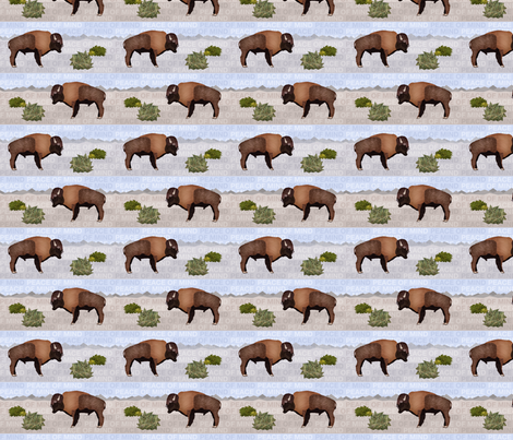 The_Gift_of_the_Bison fabric by un-typisch on Spoonflower - custom fabric