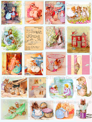 Beatrix  Potter Grid, in Multi  and Cream