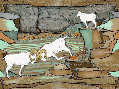 Big horn sheep of Alaska by Salzanos