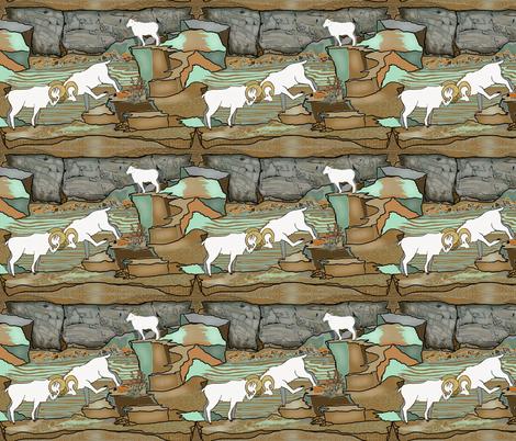 Big horn sheep of Alaska by Salzanos fabric by salzanos on Spoonflower - custom fabric