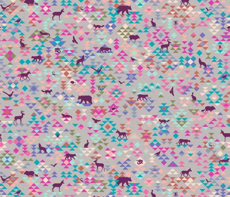 desert silhouette fabric by clothcraft on Spoonflower - custom fabric