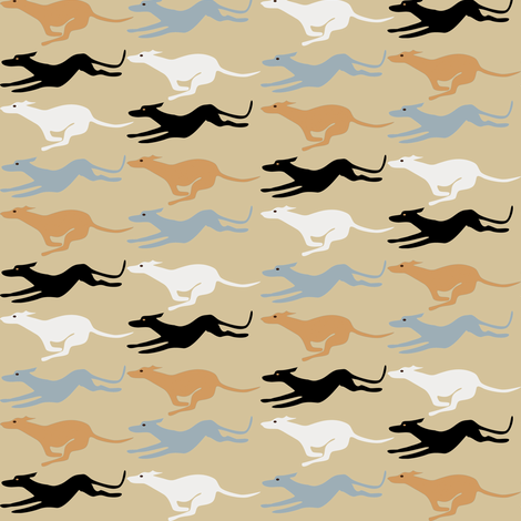 Desert Greyhounds fabric by eclectic_house on Spoonflower - custom fabric