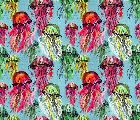 candy_jelly-fish fabric by mary15 on Spoonflower - custom fabric