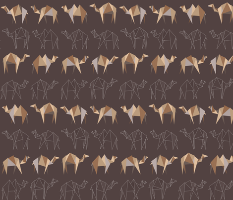 Camels and Dromedaries / Desert fabric by matite on Spoonflower - custom fabric
