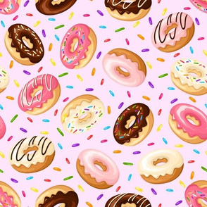 Pink Donuts w/ Sprinkles