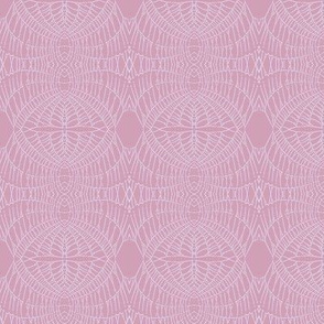 World Web (Pale Lavender on Raspberry)