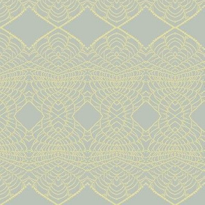 Spider Lace (Yellow on Gray)