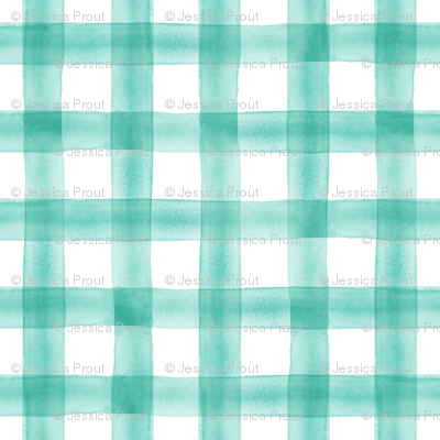 watercolor plaid || teal