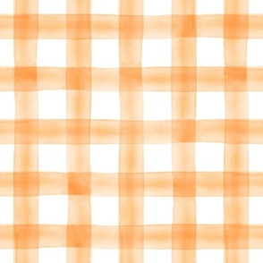 watercolor plaid || tangerine