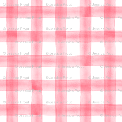 watercolor plaid || pink