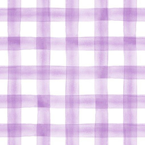 watercolor plaid || purple