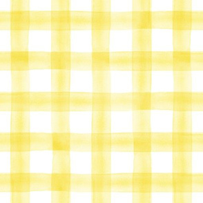 watercolor plaid || yellow