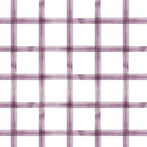 watercolor window pane  plaid || eggplant