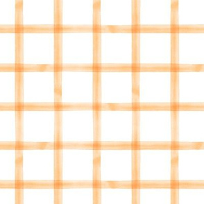 watercolor window pane plaid || orange