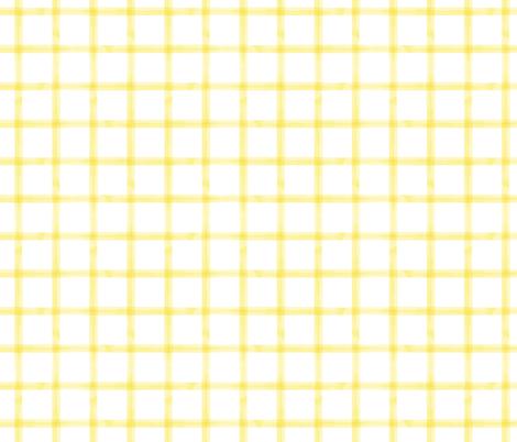 watercolor window pane plaid || yellow fabric by littlearrowdesign on Spoonflower - custom fabric
