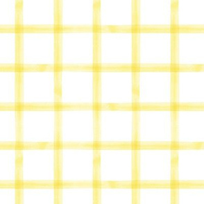 watercolor window pane plaid || yellow