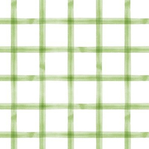 watercolor window pane plaid || greenery