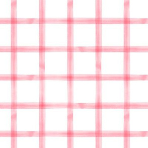 watercolor window pane plaid || pink