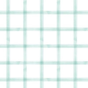 watercolor window pane plaid || spring plaid
