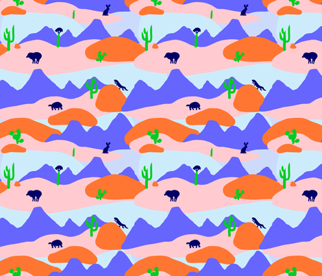 Creatures of the Sonoran Desert fabric by janetdrummond on Spoonflower - custom fabric