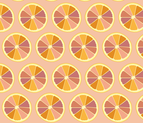 Cocktail Dream Grapefruit Pink Large fabric by prydverk on Spoonflower - custom fabric