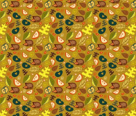 Dorset Hedgehogs fabric by slumbermonkey on Spoonflower - custom fabric