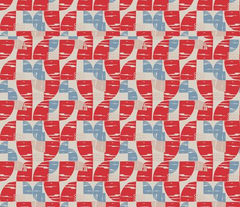 Urban Geo Red fabric by slumbermonkey on Spoonflower - custom fabric
